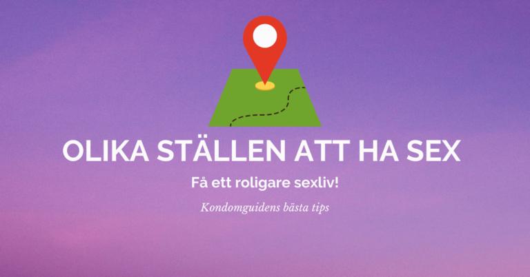 Olika ställen att ha sex 1
